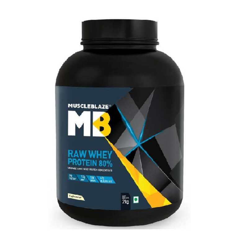 MuscleBlaze Raw Whey Protein 80% Unflavored