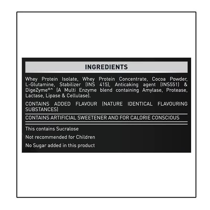 Muscleblaze Whey Premium Ingredients