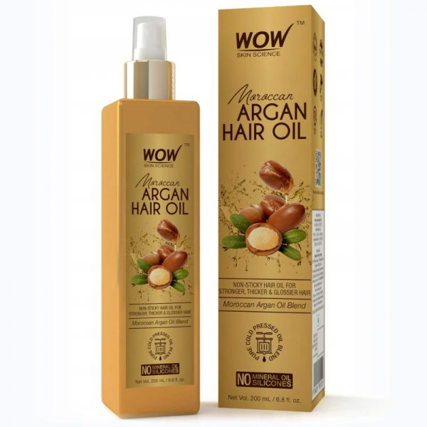 WOW Skin Science Moroccan Argan Hair Oil for Strong and Healthy Hair 200 mL