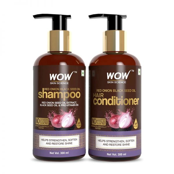 WOW Red Onion Black Seed Oil Hair Shampoo and Conditioner 300mL