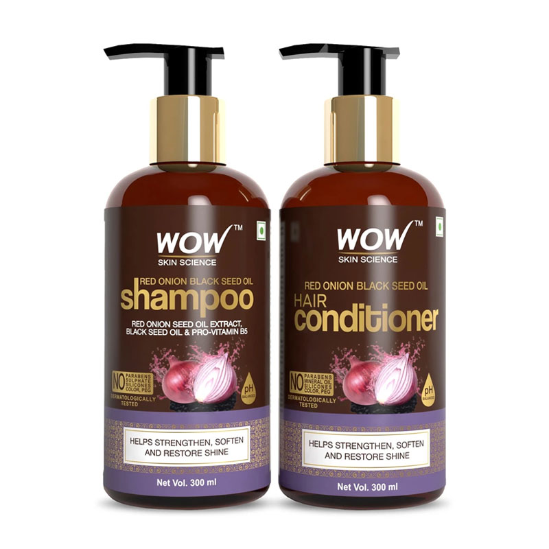 WOW Red Onion Black Seed Oil Hair Shampoo & Conditoner