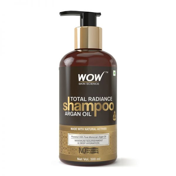 Wow total radiance shampoo with argan oil