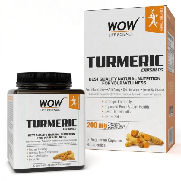 WOW Life Science Turmeric 60 Capsules