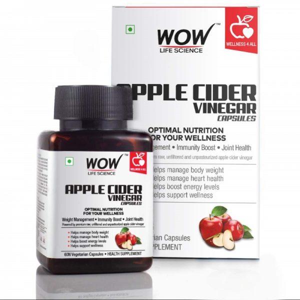 WOW Life Science Apple Cider Vinegar Capsule Supplement