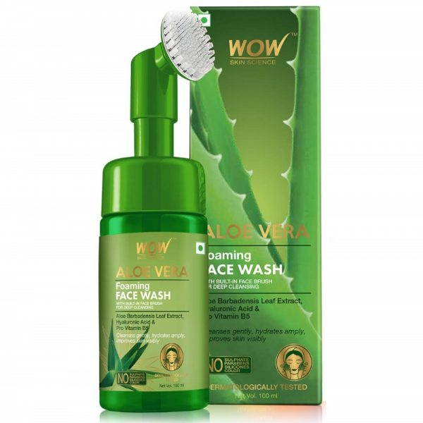 WOW Skin Science Aloe Vera Foaming Face Wash