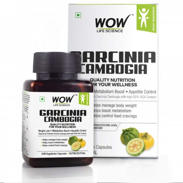 WOW Life Science Garcinia Cambogia Extract 60 Capsules