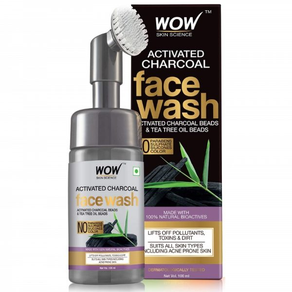 WOW Skin Science Activated Charcoal Foaming Face Wash
