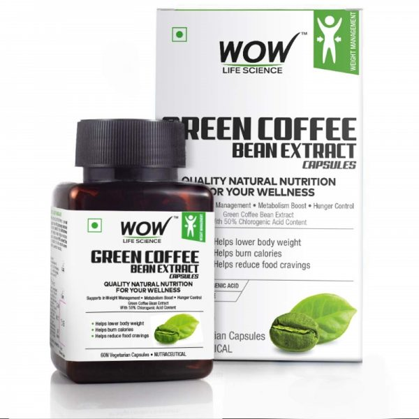 WOW Life Science Green Coffee Weight Management Supplement 60 Capsules