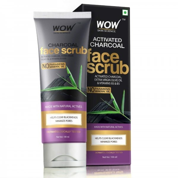 WOW Skin Science Activated Charcoal Face Scrub
