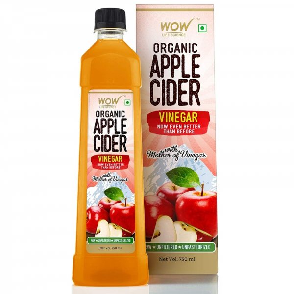WOW Life Science Apple Cider Vinegar Pure with Mother of Vinegar