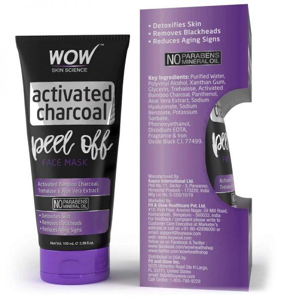 WOW Skin Science Charcoal Peel Off